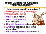 from quarks to cosmos committee on the physics of the universe nrc