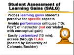 student assessment of learning gains salg