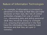 nature of information technologies1