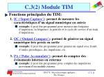 c 3 2 module tim