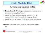 c 3 2 module tim10