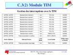 c 3 2 module tim19