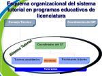 esquema organizacional del sistema tutorial en programas educativos de licenciatura