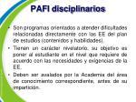 pafi disciplinarios