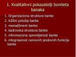 1 kvalitativni pokazatelji boniteta banaka