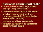 kadrovska opremljenost banke