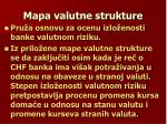 mapa valutne strukture