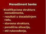 menad ment banke