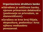 organizaciona struktura banke