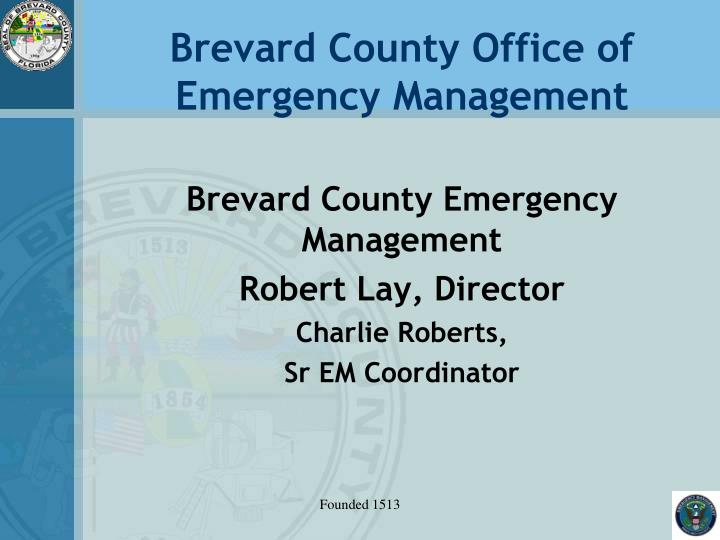 brevard county office of emergency management n.