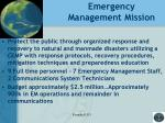 emergency management mission