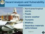 hazard analysis and vulnerability assessment