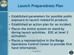 launch preparedness plan