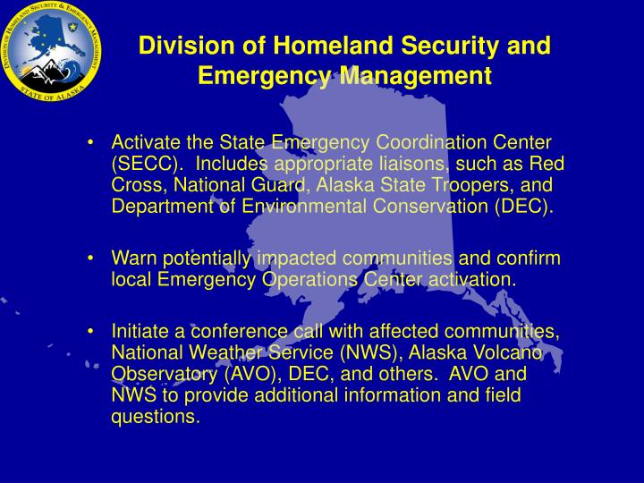 division of homeland security and emergency management n.