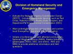 division of homeland security and emergency management