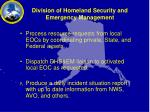 division of homeland security and emergency management1