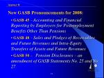 new gasb pronouncements for 20081