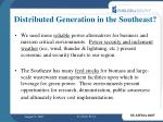 distributed generation in the southeast1