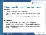 distributed generation scenarios