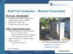 end user scenarios remote generation