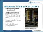 phosphoric acid fuel cell pafc