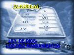 clausulas ley de dios los diez mandamientos