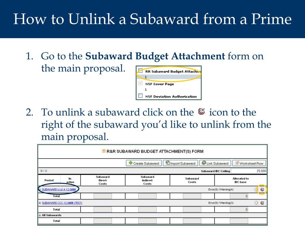 PPT - Subawards PowerPoint Presentation - ID:4559524