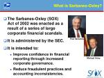 what is sarbanes oxley