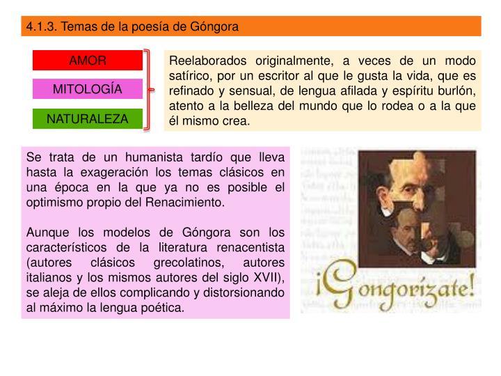 4.1.3. Temas de la poesía de Góngora