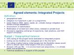 agreed elements integrated projects