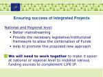 ensuring success of integrated projects1