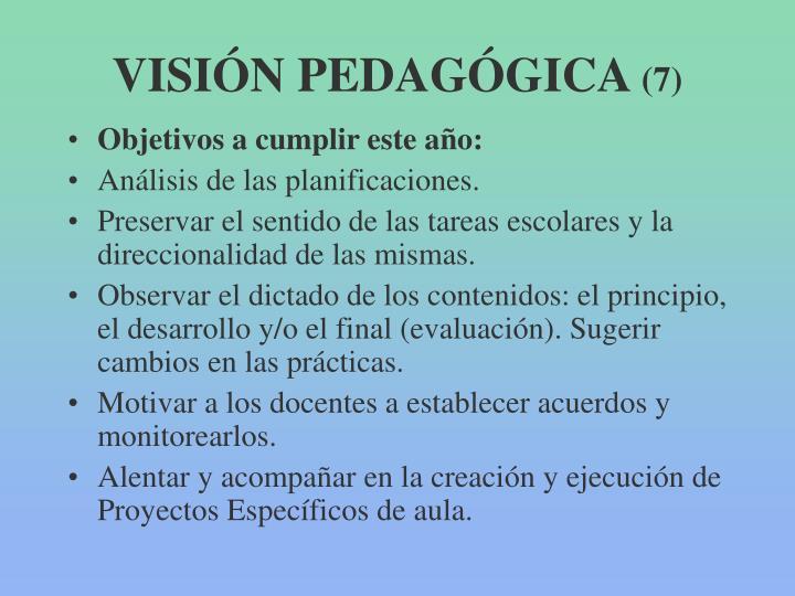 VISIÓN PEDAGÓGICA