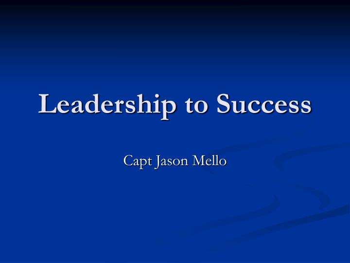 leadership to success n.