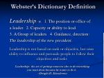webster s dictionary definition