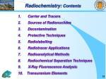 radiochemistry contents