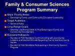 family consumer sciences program summary2