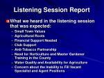 listening session report1