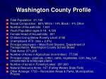 washington county profile