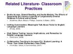 related literature classroom practices1