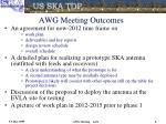 awg meeting outcomes