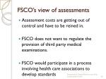 fsco s view of assessments