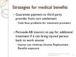 strategies for medical benefits1