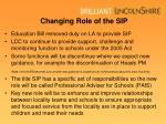 changing role of the sip