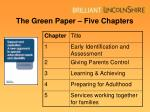 the green paper five chapters