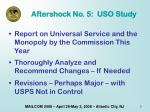 aftershock no 5 uso study