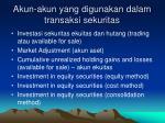 akun akun yang digunakan dalam transaksi sekuritas
