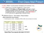 first class mail presort