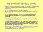 improvements in social issues