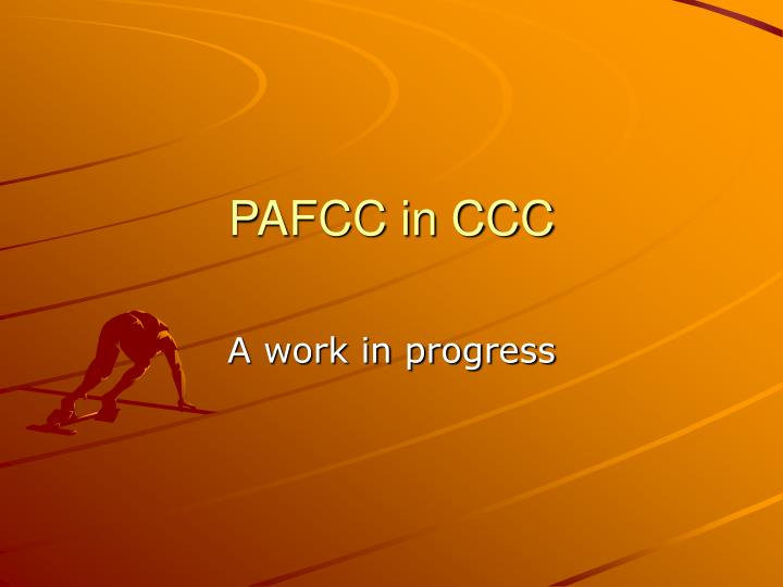 pafcc in ccc n.