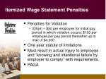itemized wage statement penalties